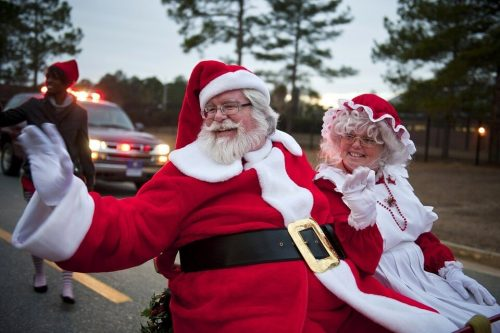 Santa sits on the sleigh with Mrs Claus. He is vendor management, vendor risk management.